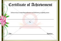 Achievement Certificate | Certificate Templates, Certificate for Best Outstanding Achievement Certificate
