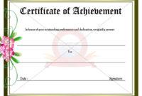 Achievement Certificate | Certificate Templates, Certificate within Fresh Outstanding Effort Certificate Template