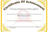 Achievement Certificate Template Recognize The Achievement in Outstanding Effort Certificate Template