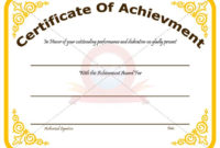 Achievement Certificate Template Recognize The Achievement throughout Outstanding Performance Certificate Template