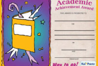 Achievement Certificate Template with regard to Best Academic Achievement Certificate Template