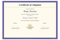 Adoption Certificate Template – Pdf Templates | Jotform intended for Unique Child Adoption Certificate Template Editable