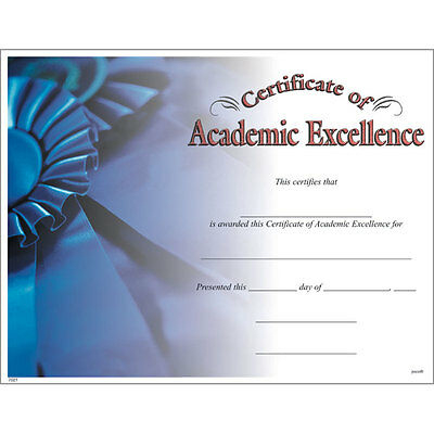 Akademische Excellence Award Certificate, Pack 15 | Ebay With Regard To Fresh Certificate Of Academic Excellence Award