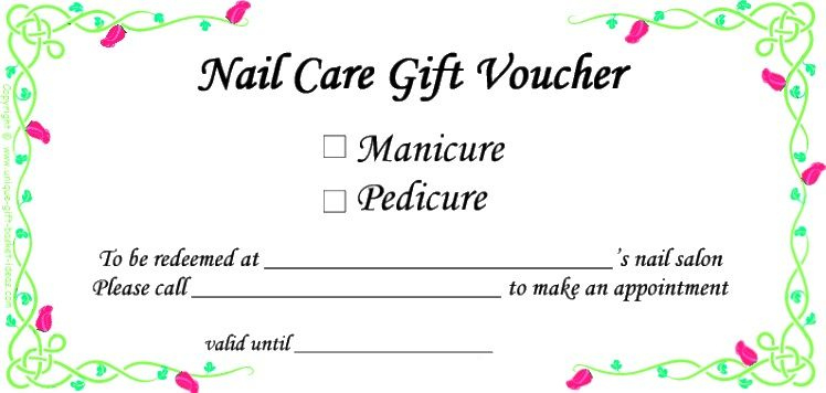Always A Good Idea! | Gift Certificate Template Word, Gift For Unique Free Printable Manicure Gift Certificate Template