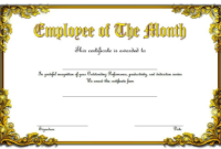 An Employee Of The Month Certificate Template Word Free 6 In in Employee Of The Month Certificate Template Word