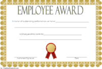 An Employee Of The Week Certificate Template Free 2 | Awards in Best Employee Certificate Template