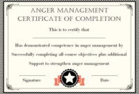 Anger Management Certificate: 15 Templates With Editable intended for Fresh Anger Management Certificate Template Free