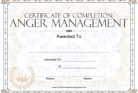 Anger Management Certificate Of Completion Template Download pertaining to Anger Management Certificate Template