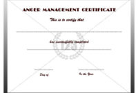 Anger Management #Certificate #Template | Anger Management for Best Anger Management Certificate Template