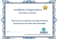 Appreciation Training Certificate Completion Thank You Word in Training Completion Certificate Template 10 Ideas