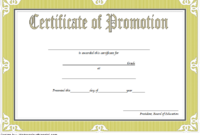 Army Certificate Of Promotion Template – Template Free pertaining to Free Printable Certificate Of Promotion 12 Designs