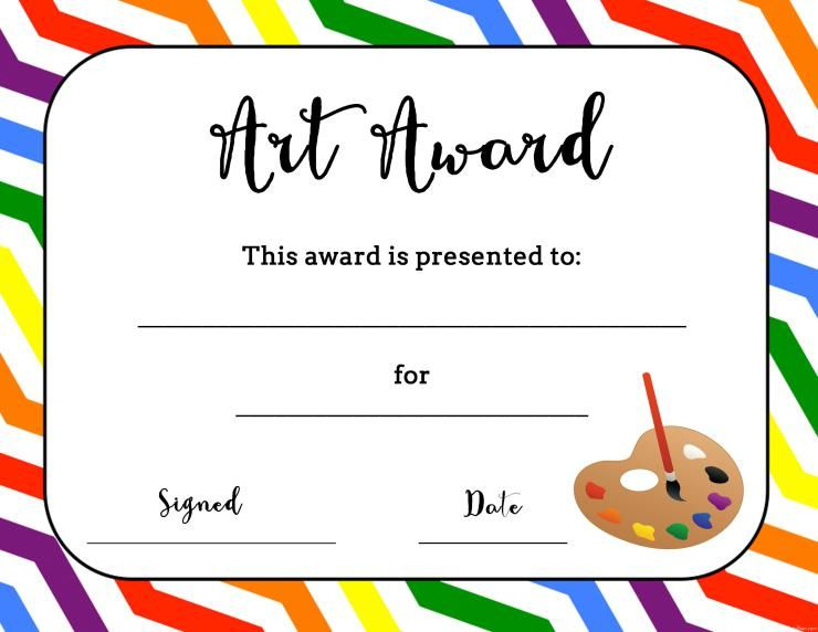 Art Award Certificate (Free Printable) | Art Certificate inside Best Free Art Award Certificate Templates Editable
