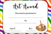 Art Award Certificate (Free Printable) | Printable Art with regard to Best Art Award Certificate Template