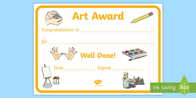 Art Award Certificate Template With Regard To Drawing Competition Certificate Template 7 Designs