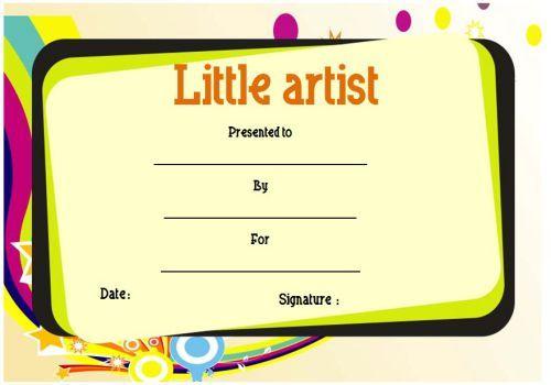 Art Award For Kids | Art Certificate, Certificate Templates Within Best Art Award Certificate Template