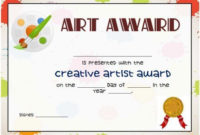 Art Certificate Template Free In 2020   Certificate inside Unique Student Council Certificate Template 8 Ideas Free