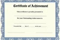 Award-Achievement-Ss-Blue-Detail | Certificate Of throughout Outstanding Achievement Certificate