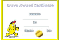 Award Certificate For Being Brave | Bravery Awards, Awards throughout Bravery Award Certificate Templates