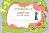 Award Certificate For Mathematics in Fresh Math Award Certificate Templates