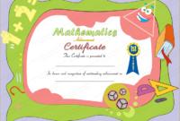 Award Certificate For Mathematics within Fresh Math Achievement Certificate Templates