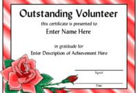 Award Certificate Templates | Certificate Templates, Awards for Outstanding Volunteer Certificate Template