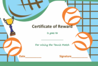 Award Certificate Templates | Soft – Templates with regard to Fresh Tennis Achievement Certificate Templates