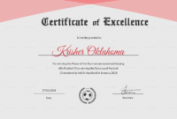 Award Of Excellence Certificate Template Awesome Football Within Certificate Of Championship