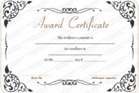 Award-Of-Excellence-Template with Fresh Math Certificate Template 7 Excellence Award