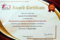 Awards | Table regarding Unique Academic Excellence Certificate