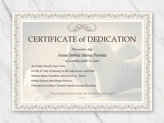 Baby Christening Certificate Template (3) - Templates Throughout Baptism Certificate Template Word 9 Fresh Ideas