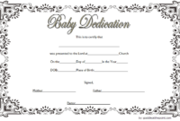 Baby Dedication Certificate Template (3) – Templates Example in Baby Dedication Certificate Templates