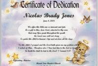 Baby Dedication Certificate Template | Baby Dedication with Pet Birth Certificate Template 24 Choices