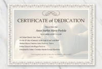 Baby Dedication Certificate Template For Word [Free Printable] regarding Unique Free Fillable Baby Dedication Certificate Download