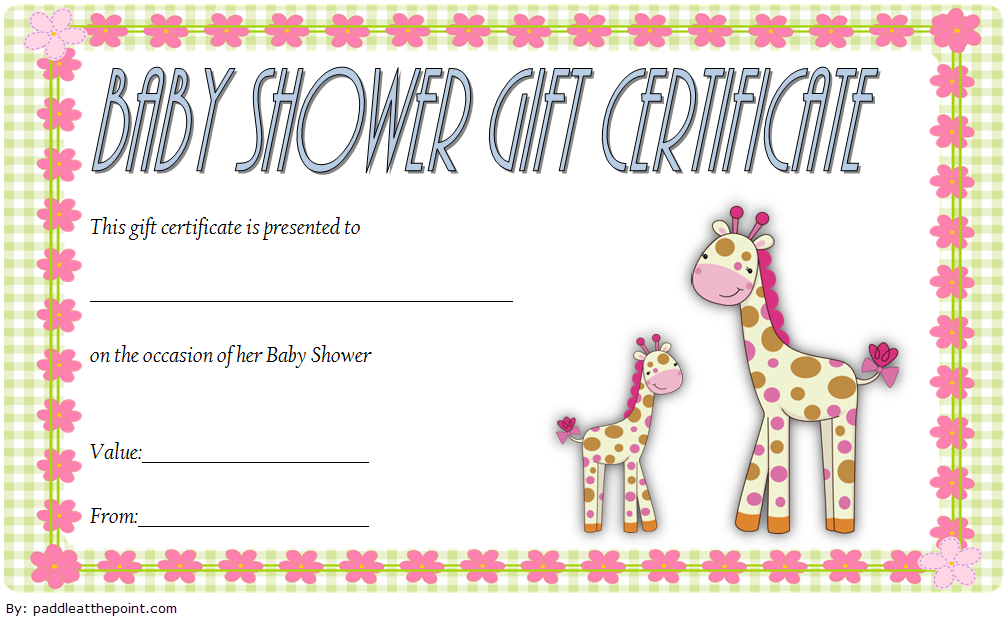 Baby Shower Gift Certificate Template Free 3 In 2020 | Gift intended for Baby Shower Gift Certificate Template Free 7 Ideas