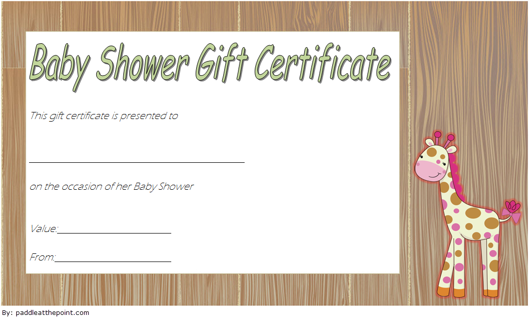 Baby Shower Gift Certificate Template Free 4 | Gift Regarding Baby Shower Winner Certificate Template 7 Ideas