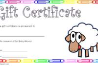 Baby Shower Gift Certificate Template Free 5 In 2020 | Gift intended for Baby Shower Gift Certificate Template