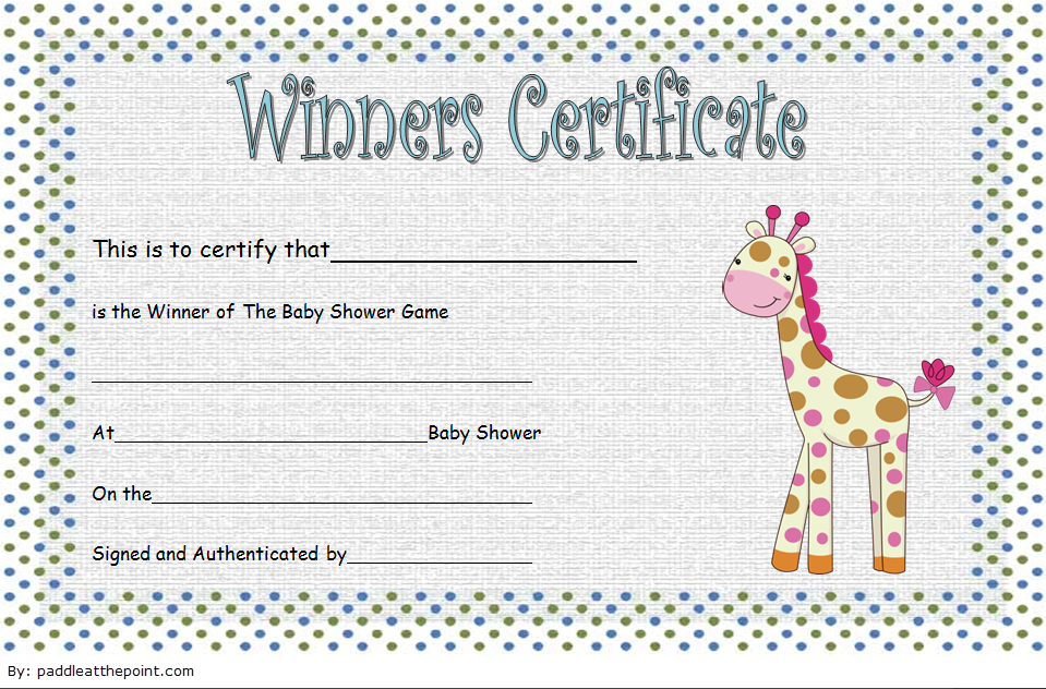 Baby Shower Winner Certificate Free Printable 1 Di 2020 regarding Best Baby Shower Winner Certificate Template 7 Ideas