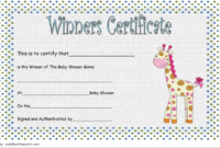 Baby Shower Winner Certificate Free Printable 1 Di 2020 within Unique Baby Shower Winner Certificates