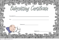 Babysitting Certificate Template Free 2   Certificate with Babysitting Certificate Template