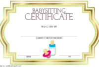 Babysitting Certificate Template Free 5   Certificate with Babysitting Certificate Template