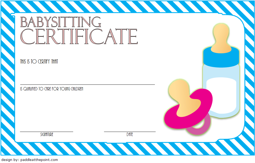 Babysitting Certificate Template Free 6   Certificate with Babysitting Certificate Template