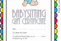 Babysitting Gift Certificate Template Lovely Babysitting intended for Best 7 Babysitting Gift Certificate Template Ideas