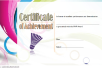 Badminton Achievement Certificate Free Printable 2 In 2020 intended for Badminton Achievement Certificates