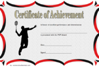 Badminton Achievement Certificate Free Printable 3 In 2020 intended for Badminton Certificate Template