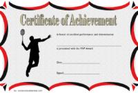 Badminton Achievement Certificate Free Printable 3 In 2020 within Badminton Certificate Template Free 12 Awards