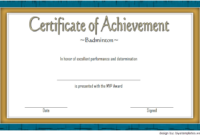 Badminton Achievement Certificate Free Printable 6 In 2020 with regard to Best Badminton Achievement Certificates