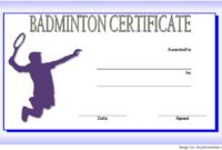 Badminton Certificate Template Free 2 In 2020 | Certificate inside Badminton Certificate Templates