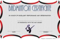 Badminton Certificate Template Free 5 In 2020 | Certificate pertaining to Best Badminton Certificate Template