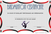 Badminton Certificate Template Free 5 In 2020 | Certificate within Best Badminton Achievement Certificate Templates