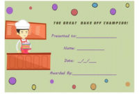 Bake Off Certificate | Cake Competition, Bake Off Winners with regard to Bake Off Certificate Templates